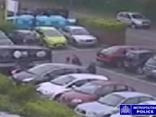 CCTV footage of attack in Sainsburys car park