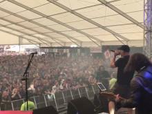Ian Haugland friar på Sweden Rock Festival