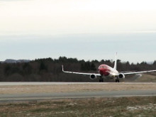 Take-off LN-DYH at BGO