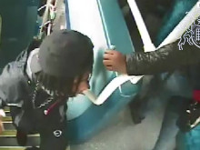 CCTV of people police would like to speak to in connection with a robbery