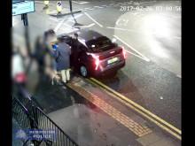 CCTV of the assault in Croydon