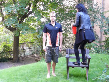 Fredrik Weibull from Imagine that completes the ALS ice bucket challenge for ALS research