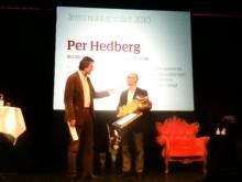"""STINGs VD och grundare Pär Hedberg  utsedd till """"Årets Riskkapitalist"""""""