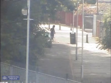 Video clip of Mario Albino Te running from Olympic Park, the scene of the murder