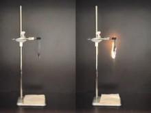 Video på Paxymer och ett traditionellt flamskyddat material under ett UL94 V-test