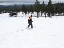 Vinterns första skidåkning september 2010
