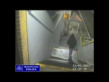 Footage of Marvin Melvin-Browne lurking around Rectory Road Overground Station