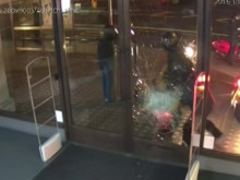 Connor Patterson conviction - CCTV of ramming/smashing of shop doors