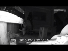 CCTV footage of men stealing presents