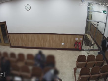 CCTV footage of incident at church