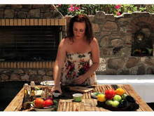Matlagning med Fontana: Linnéa Seidel (Saganaki med honungsmarinerad citrusfruktsallad)