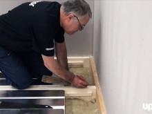Installation av golvvärme med Uponor golvvärmekassett