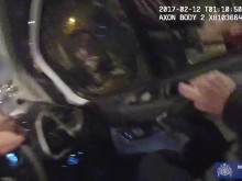 Body cam after officers confronted and pursued Kowalczyk