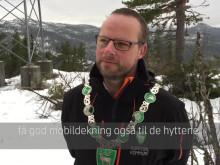 Video fra markeringen i Hjartdal av 4G-basestasjon nr. 5000
