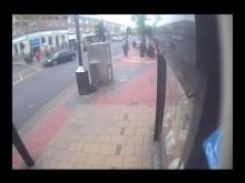 CCTV of man sought after stabbing