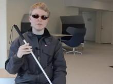 Film: Daniel Innala Ahlmark, presenterar lasernavigatorn för synskadade i sin doktorsavhandling vid Luleå tekniska universitet.