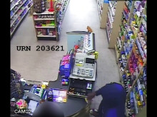 CCTV of armed robbery at a chemist in Wimbledon