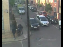CCTV of the incident in Brixton