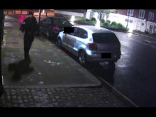 CCTV of Darren February outside the premises shortly after the burglary