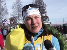 Segerintervju med Jenny Hansson Vasaloppet 2011