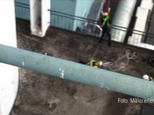Träning på Kraftvärmeverket inför Världsrekordförsök 8 maj, Foto: Mälarenergi
