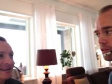 Klipp från inspelningen av det 20e avsnittet av podcasten #jäklamänniska