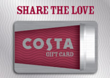 FROM ONE COFFEE LOVER TO ANOTHER - COSTA COFFEE GIFT CARD