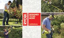 Känn kraften med de nya elektriska trädgårdsverktygen från Ryobi®