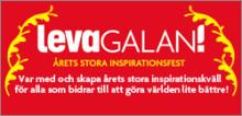 Levagalan 2009 med Leva Bättre-priset och 100 inspiratörer på Berns Salonger, T.G.I.M. – Thank God It's Monday sköter koordinering och marknadsföring