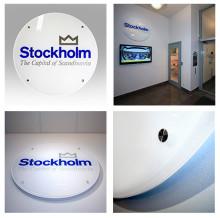 Fastighetskontoret i Stockholms stad nya profil  'The Capital of Scandinavia'.