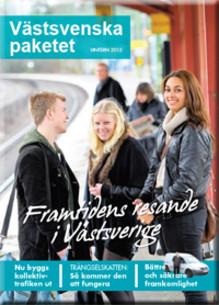 Tidning om Västsvenska paketet i brevlådan