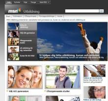 MSN lanserar söktjänst för utbildning i samarbete med Studentum