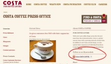 """Lisää verkkosivuillesi Mynewsdeskin """"seuraa meitä""""-nappula"""