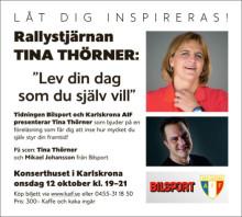Tina Thörner till Karlskrona
