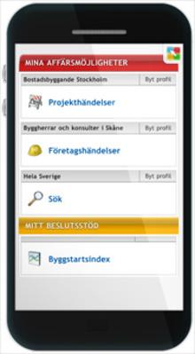 Nyhet! Bygginformation ger fler affärsmöjligheter och bättre beslutsstöd även i mobila enheter.