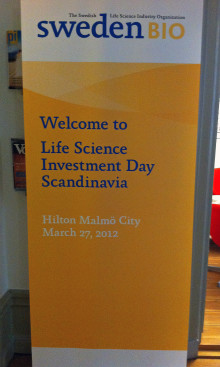 Welcome to the Life Science Investment Day Scandinavia on Tuesday in Malmö!