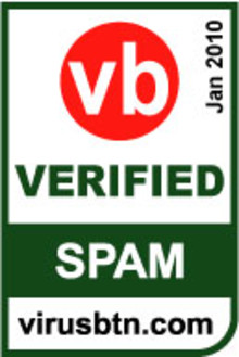 M86 Security fick det högsta betyget i Virus Bulletin  Anti-Spam test januari 2010