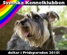 Svenska Kennelklubben i Prideparaden 2010