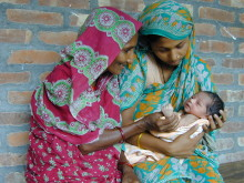 Food supplementation in early pregnancy reduces infant mortality