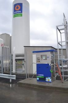 Statoil öppnar Storstockholms första och Sveriges andra tankställe för flytande fordonsgas till tung trafik