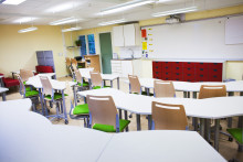 Ett helt nytt klassrum inför skolstarten