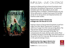 Impulsia skänker bort skivor på Clarion Hotel Stockholm