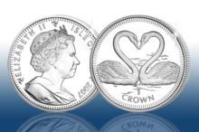 Mynt som hyllar kärleken