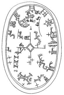 Trumman berättar om samisk tro och rit