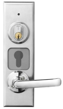 Ny dörrbladsläsare med inbyggt lås från Aptus