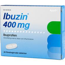 Apoteket lanserar en snabbverkande ibuprofentablett, Ibuzin 400 mg
