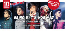 One Direction-hysteri i Oslo, lørdag 26. mai!