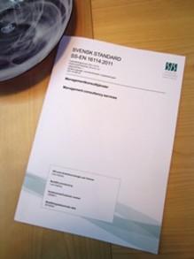 Standard förenklar köp av managementkonsulttjänster