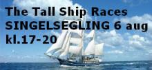 Singelsegling  med  Singel i Sverige under Tall Ship Races  den 6 augusti i Halmstad