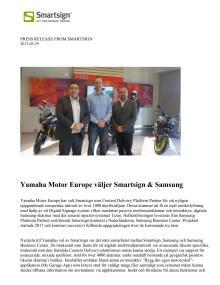 Yamaha Motor Europe väljer Smartsign & Samsung